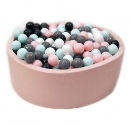 Suchý bazén 90/40 cm + 200 míčků - růžový