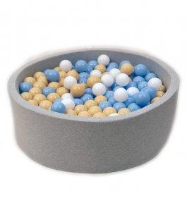 Suchý bazén 90/40 cm + 200 míčků - šedý