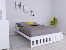 Zvětšit Postel Abby 140/200 cm masiv borovice - bílá