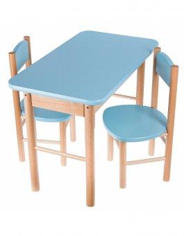 Zvětšit Stoleček + židličky - modrá