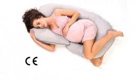 Těhotenský a kojící polštář medic - typ C černé mráčky