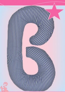 Těhotenský a kojící polštář medic - typ C  granát pásky