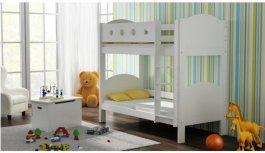 Zvětšit Patrová postel Vašek luk 180/80 cm bílá