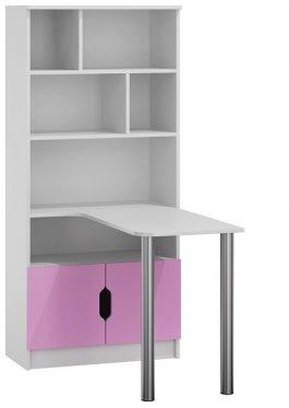 Regál s psacím stolem N36 - Violet