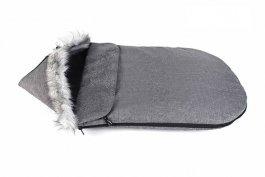 Dětský fusak zimní liška - 90 cm - šedý