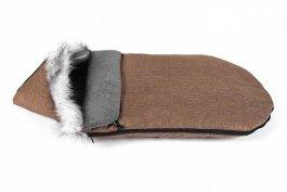Dětský fusak zimní liška - 90 cm - hnědý