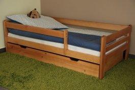 Dětská postel 180x80 cm Vráťa olše + šuplík + matrace