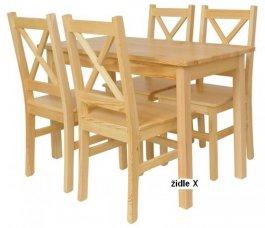 Židle z masivu X - 4 barvy